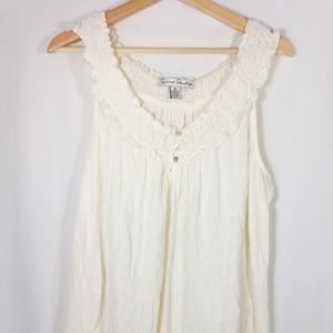 Sleeveless Cream Colored Tank XL